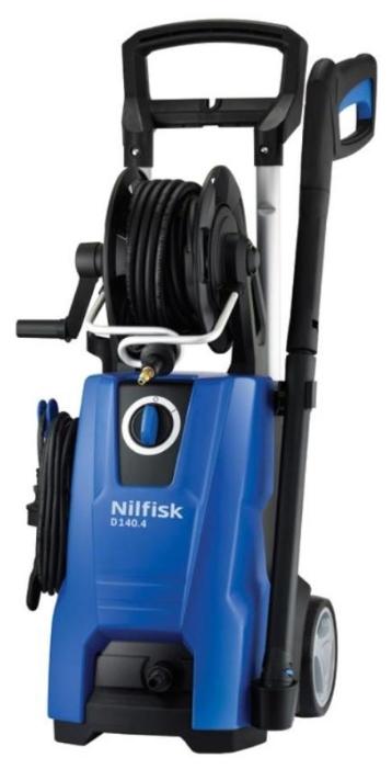 Мойка высокого давления Nilfisk D 140.4-9 X-TRAМойки высокого давления<br><br><br>Давление, Бар: 140<br>Производительность, л/час: 550<br>Материал корпуса насоса: алюминий<br>Потребляемая мощность: 2.4 кВт·ч<br>Напряжение сети: 220/230 В<br>Насадки: стандартная<br>Шланг ВД: способ хранения: катушка, длина 9 м