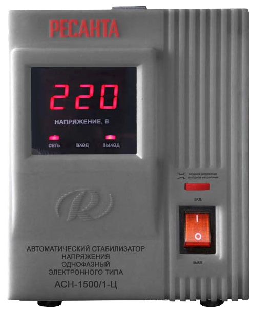 Стабилизатор напряжения Ресанта ACH-1500/1-ЦСетевые фильтры и стабилизаторы<br><br><br>Тип: стабилизатор напряжения