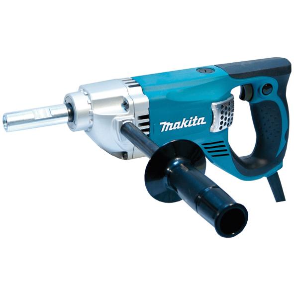 Строительный миксер Makita UT2204Дрели, шуруповерты, гайковерты<br>Мешалка Makita UT 2204:<br><br>- Надежный миксер с высоким крутящим моментом<br>- Защитный кожух надежно защищает двигатель и детали трансмиссии от попадания пыли<br>- Идеально подходит для смешивания краски или штукатурки<br>- Наличие светового индикатора повреждения кабеля, неисправности переключателя или двигателя<br>- Эргономичная рукоятка с резиновыми вставками обеспечивает удобный захват, улучшает управление инструментом и снижает усталость пользователя<br><br>Тип: строительный миксер<br>Количество скоростей работы: 2<br>Питание: от сети<br>Описание: макс. диаметр мешалки 220 мм