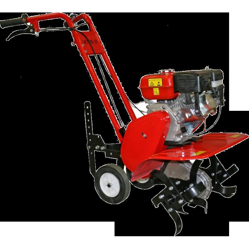 Культиватор DDE V700 II КротМотоблоки и культиваторы<br>Устали от тяжелого труда на огороде или грядке, тогда стоит взять культиватор DDE V 700 II «Крот» в качестве помощника. Данная «рабочая лошадка» имеет все, что нужно для эффективной обработки земли на вашем участке. Если еще остались сомнения, стоит просмотреть ТТХ техники:<br><br>- Двигатель с 6,5-лошадьми;<br>- Удобные, усиленные рукоятки;<br>- Набор навесного оборудования;<br>- Цепной редуктор;<br>- Колеса для удобства использования.<br><br>Корпус техники выполнен из прочной стали, но все же сравнивая с аналогами, культиватор DDE V 700 II «Крот» отличается компактность и небольшим...<br><br>Тип: культиватор<br>Объем топливного бака: 3.6 л<br>Ширина обработки почвы: 60 см<br>Глубина вспахивания: 25 см<br>Тип двигателя: бензиновый, 4х тактный<br>Производитель и модель двигателя: DDE<br>Объем двигателя: 196 куб. см<br>Мощность двигателя: 6.50 л.с.<br>Тип редуктора: цепной<br>Количество передач: 1 вперед