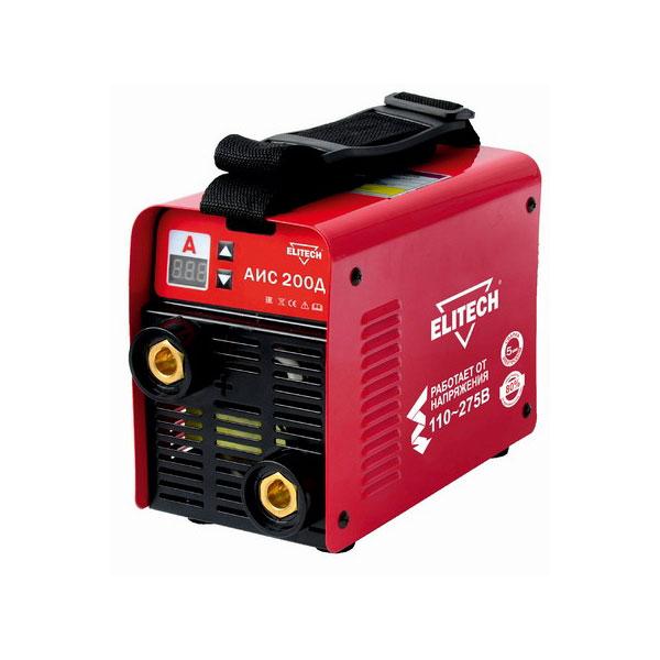 Сварочный аппарат Elitech АИС 200ДСварочные аппараты<br>Описываемое устройство служит для сварки &amp;#40;дуговой штучными электродами и аргонодуговой&amp;#41; нержавеющей и углеродистой стали. Оно может с успехом эксплуатироваться при выполнении работ по ремонту и строительству, идеально подходит для использования в быту. Со своими задачами инверторный сварочный аппарат Элитек АИС 200Д справляется максимально качественно. Он позволяет получать нужные в каждой ситуации результаты за короткое время. Максимальная потребляемая мощность у данного агрегата имеет величину 6,2 кВт. Диапазон сварочного тока у него...<br><br>Тип: сварочный инвертор<br>Напряжение холостого хода: 83 В<br>Мощность, кВт: 6.2<br>Диаметр электрода: 1.60-5 мм<br>Класс изоляции: H