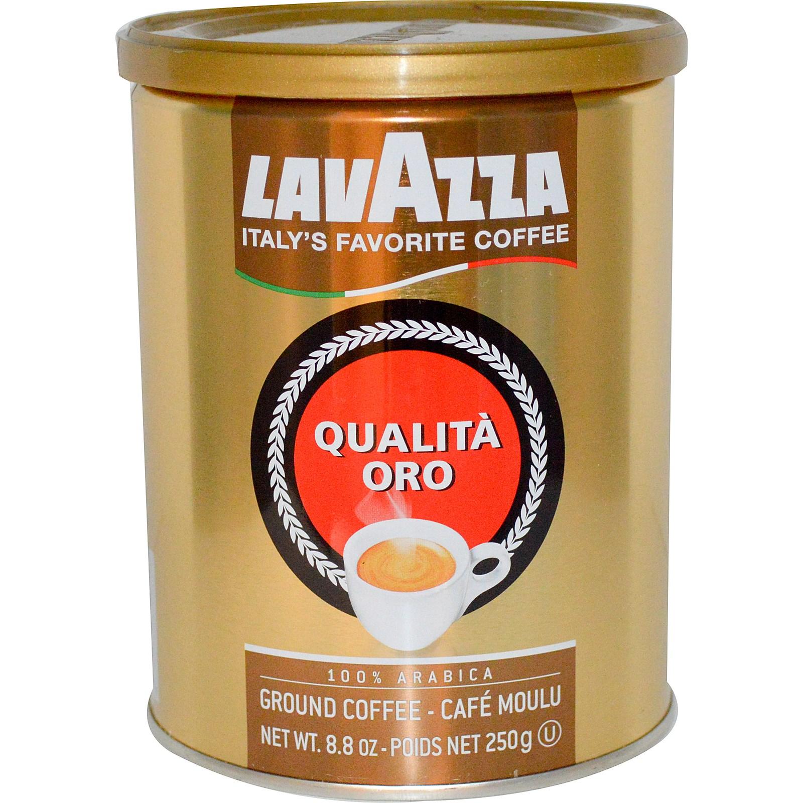 Кофе молотый Lavazza Oro 250 г  жест. банкаКофе, какао<br>Lavazza Oro — кофе, рождающий фантазию.<br>Что получится, если смешать лучшие сорта арабики, привезенной и далекой Центральной и Южной Америки? Правильно, получится вкусный молотый кофе Lavazza Oro, достойный лучших итальянских кофеен!<br>Сладковатый вкус с чуть заметной благородной кислинкой, узнаваемый вкусный аромат, идеальный помол: этот кофе так и ждет поскорее быть приготовленным в вашей турке или кофеварке!<br>Сбалансированный вкус, средняя обжарка зерен, вакуумная упаковка, надолго сохраняющая уникальность вкуса и аромата — у такого кофе есть все, ...<br><br>Тип: кофе молотый<br>Обжарка кофе: средняя<br>Кофеин: С кофеином<br>Состав: 100% Арабика<br>Дополнительно: 100% Арабика. Жестяная банка