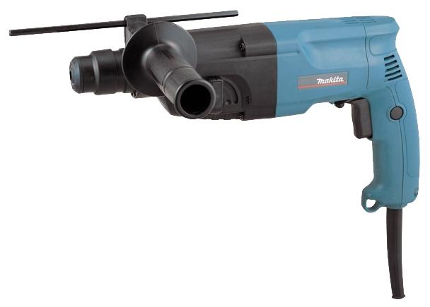 Перфоратор Makita HR2020Перфораторы<br><br><br>Тип крепления бура: SDS-Plus<br>Количество скоростей работы: 1<br>Потребляемая мощность: 710 Вт<br>Макс. энергия удара: 2.2 Дж<br>Макс. диаметр сверления (дерево): 32 мм<br>Макс. диаметр сверления (металл): 13 мм<br>Макс. диаметр сверления (бетон): 20 мм<br>Питание: от сети<br>Шуруповерт: есть<br>Возможности: реверс