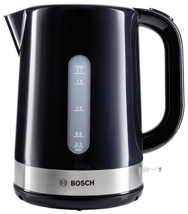 Электрочайник Bosch TWK 7403Чайники и термопоты<br><br><br>Тип   : Электрочайник<br>Объем, л  : 1.7<br>Мощность, Вт  : 2200<br>Тип нагревательного элемента: Закрытая спираль<br>Покрытие нагревательного элемента  : Нержавеющая сталь<br>Материал корпуса  : пластик<br>Индикация включения  : Есть<br>Индикатор уровня воды  : Есть<br>Отсек для хранения шнура: Есть