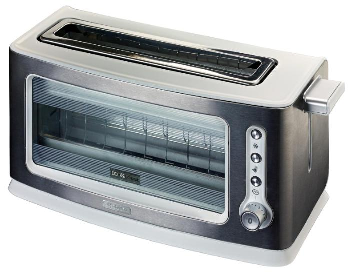 Тостер Ariete 111Тостеры и минипечи<br>Красивый тостер Ariete 111 станет настоящим украшением вашей кухни. Его необычный дизайн с прозрачным смотровым окошком понравится всем ценителям современной и функциональной техники. Корпус прибора выполнен из металла, имеет термоизоляцию, чтобы не нагреваться в процессе работы. Окошко позволит вам полностью контролировать процесс приготовления кусочков хлеба. Одновременно можно приготовить 2 хрустящих тоста. Длина сетевого шнура составляет 1 м. Если вы хотите готовить вкусные бутерброды к завтраку – однозначно стоит купить Ariete 111 Look&amp;Toast.<br><br>Функции...<br><br>Тип: тостер<br>Мощность, Вт.: 900<br>Тип управления: Механическое<br>Количество отделений: 1<br>Количество тостов: 2