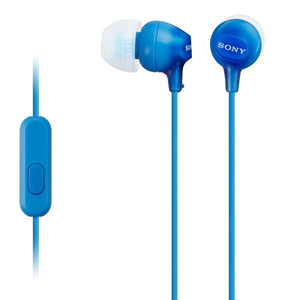 Гарнитура Sony MDR-EX15 AP BlueНаушники и гарнитуры<br><br><br>Тип: гарнитура<br>Тип акустического оформления: Закрытые<br>Вид наушников: Вставные<br>Тип подключения: Проводные<br>Диапазон воспроизводимых частот, Гц: 8-22000<br>Сопротивление, Импеданс: 16 Ом<br>Чувствительность дБ: 100<br>Микрофон: есть