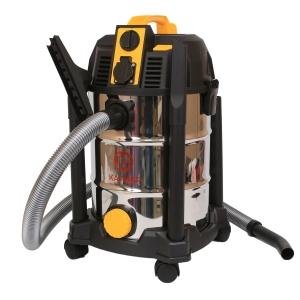 Строительный пылесос Калибр СПП-1500/30Пылесосы<br>Электрический пылесос Калибр СПП-1500/30 предназначен для уборки строительных площадок, мастерских, гаражей. С его помощью можно собирать древесную стружку, опилки, строительный мусор и негорючие жидкости. Корпус пылесоса оснащен розеткой, позволяющей подключить электроинструмент мощностью до 1800 Вт. Коллекторный двигатель с двойной изоляцией обеспечивает безопасность в работе.<br><br>Тип: Строительный пылесос<br>Потребляемая мощность, Вт: 1500<br>Тип уборки: Сухая\влажная<br>Регулятор мощности на корпусе: Нет<br>Пылесборник: Мешок<br>Емкостью пылесборника : 30 л