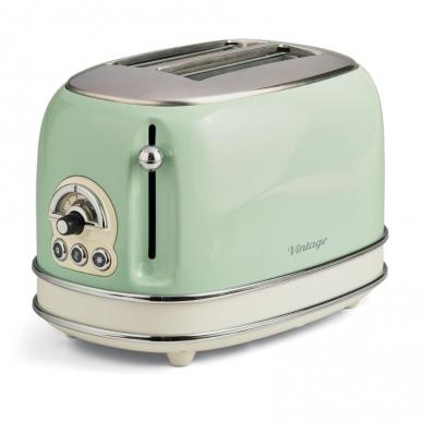 Тостер Ariete 155/14 VintageТостеры и минипечи<br>Тостер Ariete 155 – стильный прибор, с помощью которого вы сможете приготовить по-настоящему вкусные тосты. Если вам нравится итальянский винтаж, эта модель – именно то, что вы ищите. Корпус прибора металлический, тостер компактный и очень удобный. Он имеет мощность 810 Вт, чего вполне достаточно для быстрого приготовления аппетитной закуски. Вес прибора составляет меньше двух килограммов, поэтому вы сможете взять его с собой на дачу или в отпуск.<br><br>- Возможности<br>Купить Ariete 155 – получить современный тостер, который имеет самые необходимые функции. Он...<br><br>Тип: тостер<br>Мощность, Вт.: 810<br>Количество отделений: 2<br>Количество тостов: 2