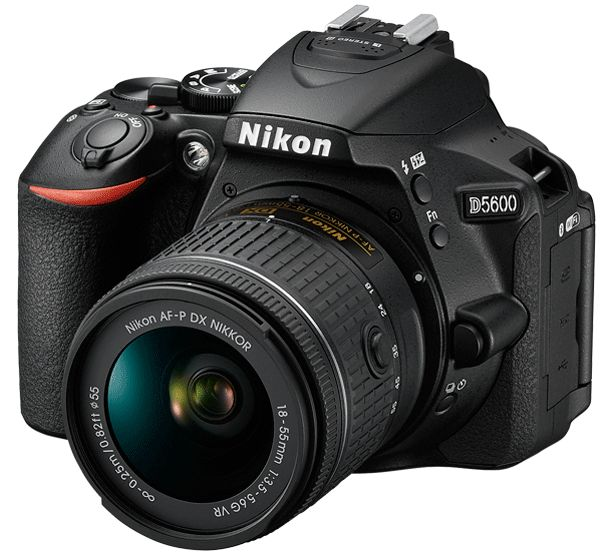 Зеркальный фотоаппарат Nikon D5600 + 18-55 P VR KIT BK EUЦифровые зеркальные фотоаппараты<br><br>
