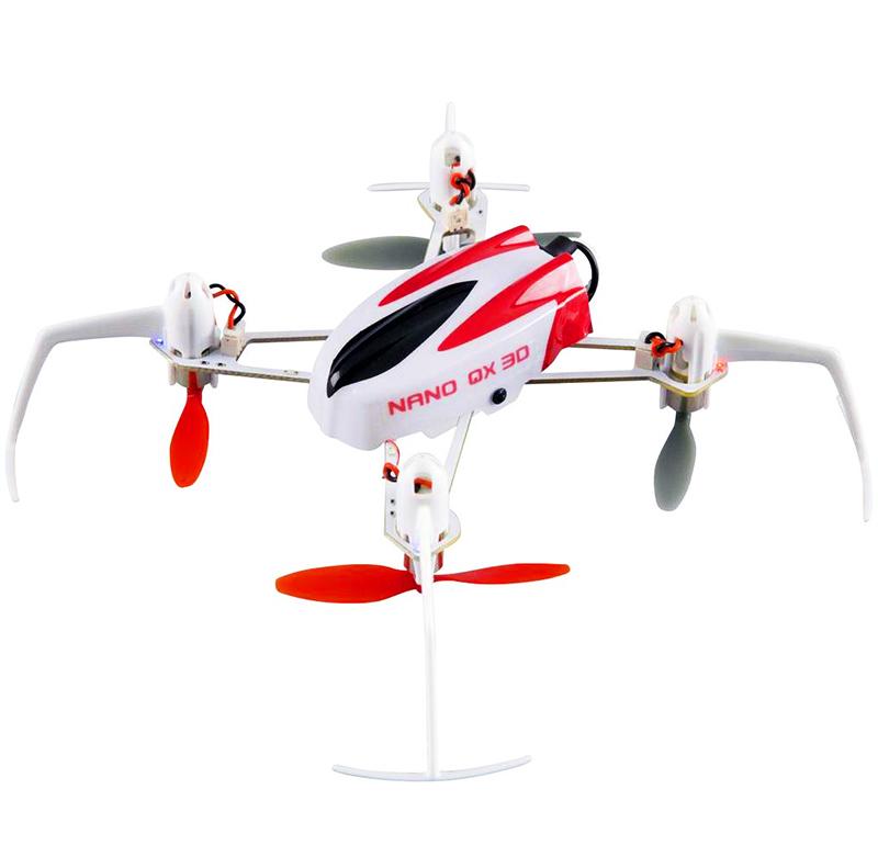 Квадрокоптер Blade Nano QX 3D BLH7180 (технология SAFE)Квадрокоптеры<br>Основные особенности:<br> • Уникальная технология SAFE облегчает выполнение фигур пилотажа<br> • Выполнение поворота на 180° и 360° нажатием одной кнопки<br> • Яркие светодиоды и кабина позволяют не потерять вертолет<br> • Прочная и легкая рама с защитой пропеллеров<br> • Мощные коллекторные двигатели обеспечивают хорошую подъемную силу<br> • Ультра-микроплата 4-в-1, включающая приемник DSMX/ESC/микшер/датчик SAFE<br> • Набор запасных винтов в комплекте<br> • Батарея 200 мА/ч 1S 3,7V 30C Li-Po в комплекте<br> • Компактное зарядное устройство для LiPo-батареи в комплекте&amp;nbsp;<br> <br> <br> Технические...<br>
