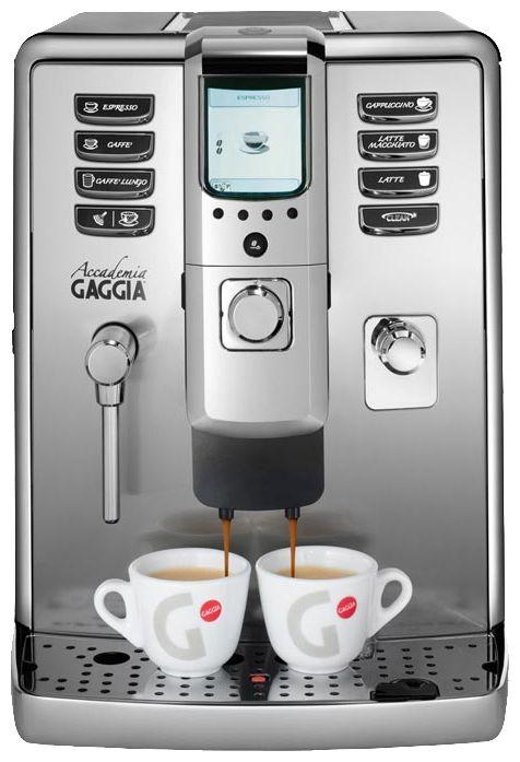 Кофемашина Gaggia AccademiaКофеварки и кофемашины<br><br><br>Тип используемого кофе: Зерновой<br>Мощность, Вт: 1500<br>Объем, л: 1.6<br>Давление помпы, бар  : 15<br>Материал корпуса  : Металл<br>Встроенная кофемолка: Есть<br>Емкость контейнера для зерен, г  : 350<br>Одновременное приготовление двух чашек  : Есть<br>Подогрев чашек  : Есть<br>Контейнер для отходов  : Есть