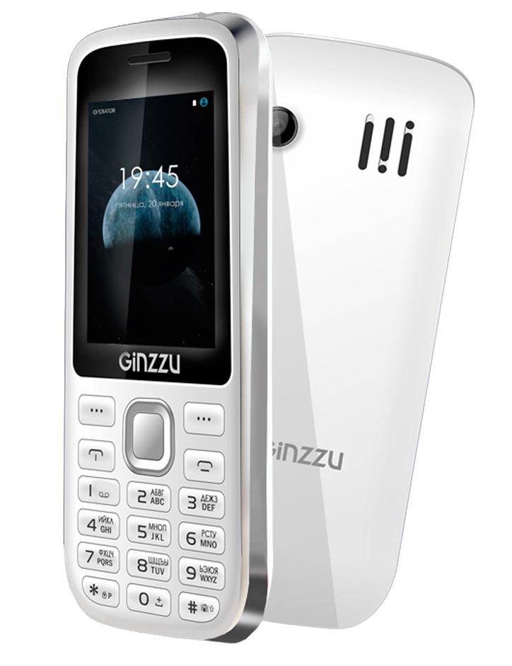 Мобильный телефон Ginzzu M201 White/GrayМобильные телефоны<br><br>