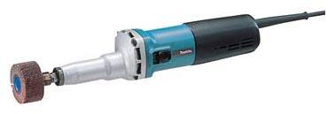 Прямая шлифмашина Makita GD0810CШлифовальные и заточные машины<br>- Прямая шлифовальная машина с возможностью установки цанг 3, 6, 8 мм.<br>- Лабиринтное уплотнение защищает мотор и подшипники от загрязнения.<br>- Идеальна для обработки внутренних поверхностей, удаления краски и т.д. с помощью шлифовальных листовых щеток<br>- Специальная система привода с муфтой Super-Joint System от Makita предотвращает рывки инструмента при работе и пуске.<br>- Без кейса<br><br>Описание: система демпфирования (SJS).