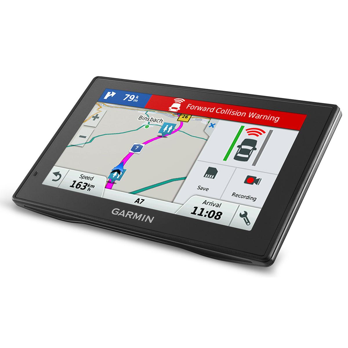 GPS навигатор Garmin DriveAssist 50LMT Europe [010-01541-11]GPS навигаторы<br>Garmin DriveAssist50 - GPS навигатор со втроенной камерой и возможностью подклучения второй<br><br>Современный мир с его огромным количеством многополосных дорог, сложных перекрестков и многоуровневых развязок предъявляет серьезные требования к подготовке водителя и обязывает его использовать самые современные средства навигации. Такие, как Garmin DriveAssist 50! Это устройство – не просто GPS-навигатор! Это полноценный «комбаин», который способен прокладывать путь, поддерживает подключение сторонних гаджетов и аксессуаров, а также несет в себе огромное количество...<br><br>Область применения: автомобильный<br>Возможность загрузки карты местности: Есть<br>Функция расчета маршрута: Есть<br>Програмное обеспечение: Garmin<br>Голосовые сообщения: есть<br>Тип антенны: внутренняя