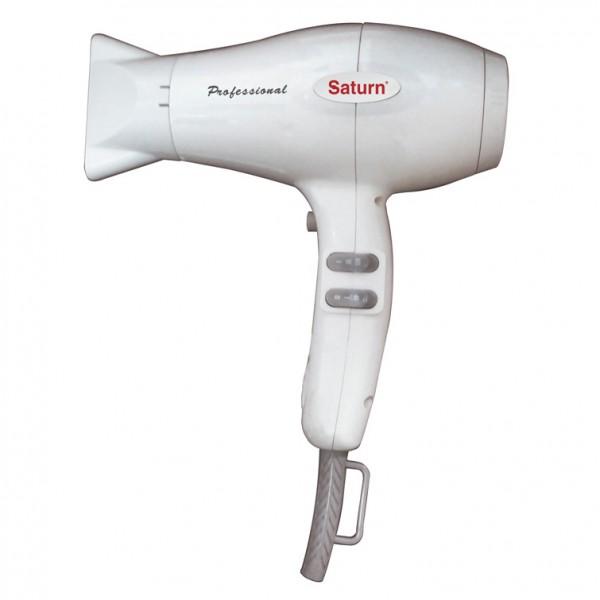 Фен Saturn ST-HC 7334 WhiteФены и щипцы<br><br><br>Тип: Фен<br>Мощность, Вт: 1800<br>Подача холодного воздуха: Есть<br>Насадки в комплекте: диффузор, концентратор<br>Петля для подвешивания: Есть<br>Количество режимов нагрева: 3<br>Защита от перегрева: Есть<br>Количество режимов интенсивности воздушного потока: 2
