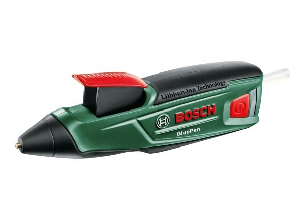 Клеевый пистолет Bosch GluePen [06032A2020]Клеевые пистолеты<br>Универсальный термоклеевой пистолет GluePen — клейте умело<br><br>Потребительские преимущества<br>- Быстрый и практичный универсальный инструмент для склеивания — не забивается, не высыхает<br>- Мгновенная схватываемость — всего через несколько секунд<br>- Готов к работе всего через 15 c нагрева<br><br>Дополнительные преимущества<br>- Одной зарядки аккумулятора хватает на применение 6 клеевых стержней &amp;#40;30 минут&amp;#41;<br>- Удобен в использовании благодаря эргономичной форме ручки<br>- Подзарядка с помощью зарядного устройства Bosch Micro-USB<br>- Чистая работа благодаря автоматической...<br>