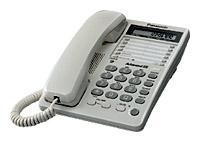 Проводной телефон Panasonic KX-TS2362RUWПроводные телефоны<br>Panasonic kx ts2362ruw: все очень легко!<br>Набрать любой номер одним нажатием кнопки? Пожалуйста! Перейти в режим тонального набора? Легко! Удержать линию? Проще простого! Проводной телефон Panasonic kx ts2362ruw великолепно справляется с любыми задачами, которые касаются связи. Ведь этот аппарат отличается не только высоким качеством и надежностью, но еще и удивительной функциональностью.<br> Купить такой телефон для офиса или для дома — значит, сделать 100% правильный выбор! Конечно, если вам важна качественная и удобная телефонная связь. Заказывайте эту модель на ...<br><br>Тип: проводной телефон<br>Органайзер: есть<br>Разъем для гарнитуры: есть<br>Количество линий : 1<br>Память (количество номеров): 10<br>Однокнопочный набор (количество кнопок): 20<br>Переадресация (Flash): есть<br>Тональный набор: есть<br>Блокировка набора номера: есть<br>Кнопка выключения микрофона: есть