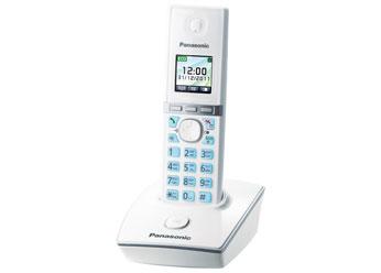 Радиотелефон Panasonic KX-TG8051RUWРадиотелефон Dect<br>Радиотелефон Panasonic KX-TG8051RUB с цветным TFT-дисплеем — это отличная модель для вашего дома или офиса. Встроенная телефонная книга на 200 номеров, спикерфон &amp;#40;громкая связь&amp;#41;, автоматический определитель номера, 40 полифонических мелодий для входящих звонков — в этой модели присутствуют все самые необходимые и важные функции современного устройства для качественной связи. Кроме того, этот радиотелефон обладает очень полезной функцией резервного питания — «Эко-режимом». Он экономно расходует электроэнергию, а, значит, экономит и ваши расходы н...<br><br>Тип: Радиотелефон<br>Количество трубок: 1<br>Рабочая частота: 1880-1900 МГц<br>Возможность набора на базе: Нет<br>Проводная трубка на базе : Нет<br>Время работы трубки (режим разг. / режим ожид.): 13/250<br>Полифонические мелодии: 40<br>Дисплей: цветной TFT<br>Подсветка кнопок на трубке: Есть<br>Возможность настенного крепления: Есть