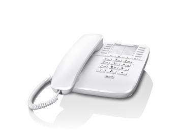 Проводной телефон Gigaset DA510 IM, WhiteПроводные телефоны<br>Gigaset da510 im, black знает все об удобстве.<br>Программируемые клавиши для быстрого набора номера, десять разных мелодий звонка и возможность настроить его громкость, электронная блокировка клавиш, поддержка тонального, импульсного и повторного набора — все это в одном проводном телефоне Gigaset da510 im, black! Установите его на своем офисном рабочем столе, и уже в течение одного рабочего дня вы на собственном опыте поймете, насколько это удобный аппарат!<br>Хотите быть до конца уверенными в безупречной репутации этого телефона? Почитайте отзывы тех, кто его уже...<br><br>Тип: проводной телефон<br>Наборное поле на базе: есть<br>Повторный набор номера: есть<br>Регулятор уровня громкости: есть