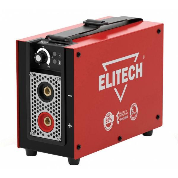 Сварочный аппарат Elitech ИС 160МСварочные аппараты<br>ELITECH ИС 160М - осуществляет ручную дуговую сварку штучными плавящимися электродами &amp;#40;MMA&amp;#41;, а также имеет возможность аргонодуговой сварки &amp;#40;TIG&amp;#41; на постоянном токе неплавящимся вольфрамовым электродом в среде защитного инертного газа-аргона &amp;#40;сварка только углеродистых и нержавеющих сталей&amp;#41;.<br><br><br>Тип: сварочный инвертор<br>Сварочный ток (MMA): 10-140 А<br>Напряжение на входе: 154-253 В<br>Количество фаз питания: 1<br>Напряжение холостого хода: 85 В<br>Тип выходного тока: постоянный<br>Мощность, кВт: 3.20<br>Продолжительность включения при максимальном токе: 60 %<br>Диаметр электрода: 1.60-4 мм<br>Класс изоляции: H