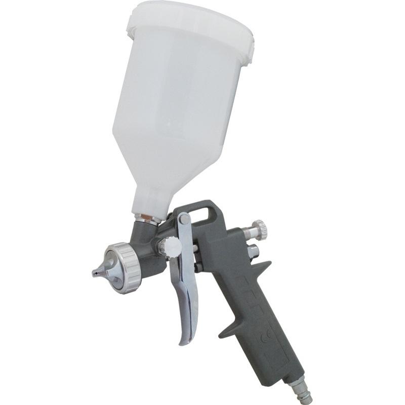Краскопульт Калибр КРП-1,5/0,6ВБКраскопульты<br>Краскопульт пневматический Калибр КРП-1,5/0,6ВБ предназначен для нанесения красочных составов, путём распыления их сжатым воздухом.<br><br>Тип: краскопульт<br>Мощность Вт: 280<br>Производительность: 120-200 л/мин<br>Объем контейнера: 0.6 л<br>Описание: максимальное раб.давление 8.3 бар. Диаметр сопла распылителя 1.5 мм