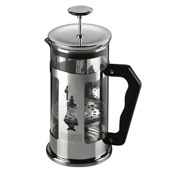 Френч-пресс Bialetti Pressofiltro 1л 3270Чайные/кофейные принадлежности<br><br><br>Объем: 1 л<br>Материал корпуса: стекло и металл (сталь)<br>Цвет: серебристый