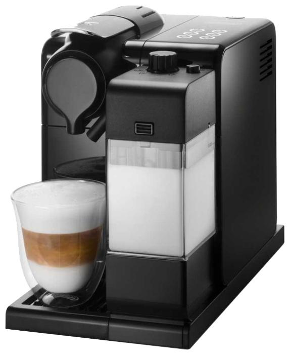Кофеварка Delonghi EN 550 BКофеварки и кофемашины<br>DeLonghi EN 550 B: изумительный вкус в стильном дизайне.<br>Пейте только вкусный и натуральный кофе, ведь это так легко, когда есть капельная кофеварка DeLonghi EN 550 B! Красивая и стильная, эта модель в мгновение ока готовит ваш любимый кофе. Причем, не столь важно, какой именно кофе вы предпочитаете: эспрессо, мокко, латте или капучино. Такая капсульная кофеварка умеет готовить не только эти напитки, но и многие другие, включая вкусные кофейные коктейли!<br>Вставьте капсулу, нажмите на кнопку и получите результат — чашечку ароматного кофе с изумительным вкусом!...<br><br>Тип : капельная кофеварка<br>Тип используемого кофе: Капсулы<br>Мощность, Вт: 1400<br>Объем, л: 0.9<br>Давление помпы, бар  : 19<br>Материал корпуса  : Пластик<br>Одновременное приготовление двух чашек  : Нет<br>Контейнер для отходов  : Есть<br>Съемный лоток для сбора капель  : Есть