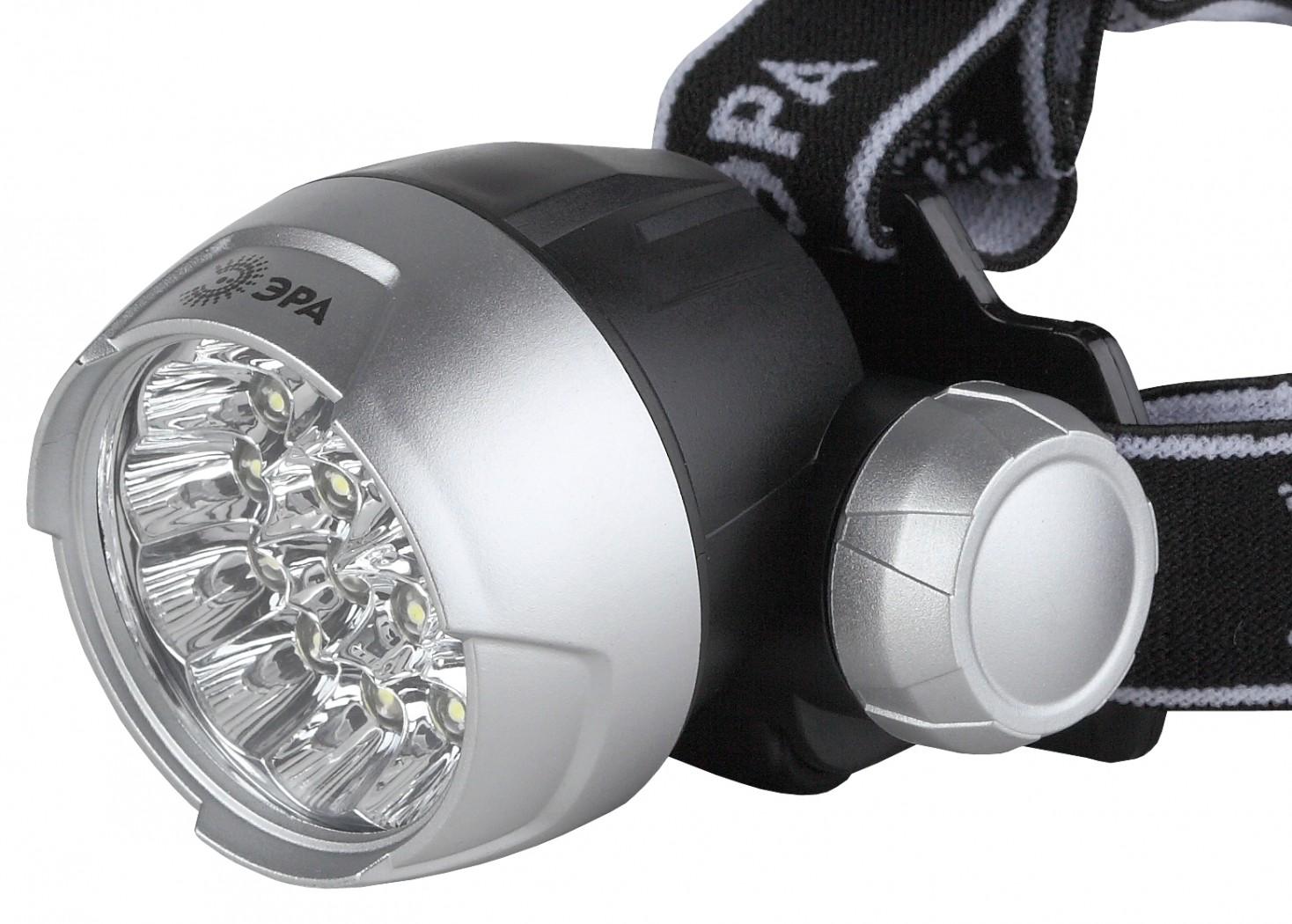 Фонарь ЭРА G17 NEWФонари<br>Фонарик налобный Эра G17 Extra - светодиодный налобный фонарь с 17-тью светодиодами. Применим как в домашних условиях так и при активном отдыхе. Удобен своим способом эксплуатации в ситуациях когда обе руки должны быть свободны. С его помощью можно&amp;nbsp;&amp;nbsp;проводить ремонтные работы, или переносить вещи из помещений со слабым освещением или из вовсе неосвещенных, при этом свет будет удобно направлен в сторону поворота головы. Такой фонарь послужит хорошей перестраховкой в дни когда перегорят домашние осветительные приборы.<br><br>Элементы питания в комплект...<br>