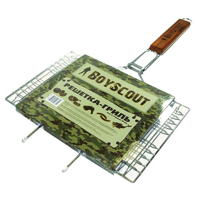 Решетка-гриль BoyScout 61312Мангалы, барбекю, гриль<br>Решетка BOYSCOUT 61312 изготовлена из стали с пищевым хромированным покрытием и идеально подходит для барбекю и мангалов.<br><br>Тип: Решетка для гриля<br>Материал корпуса: сталь