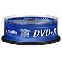 Диск Verbatim DVD+R 4,7Gb 16x (кейкбокс) (25шт)