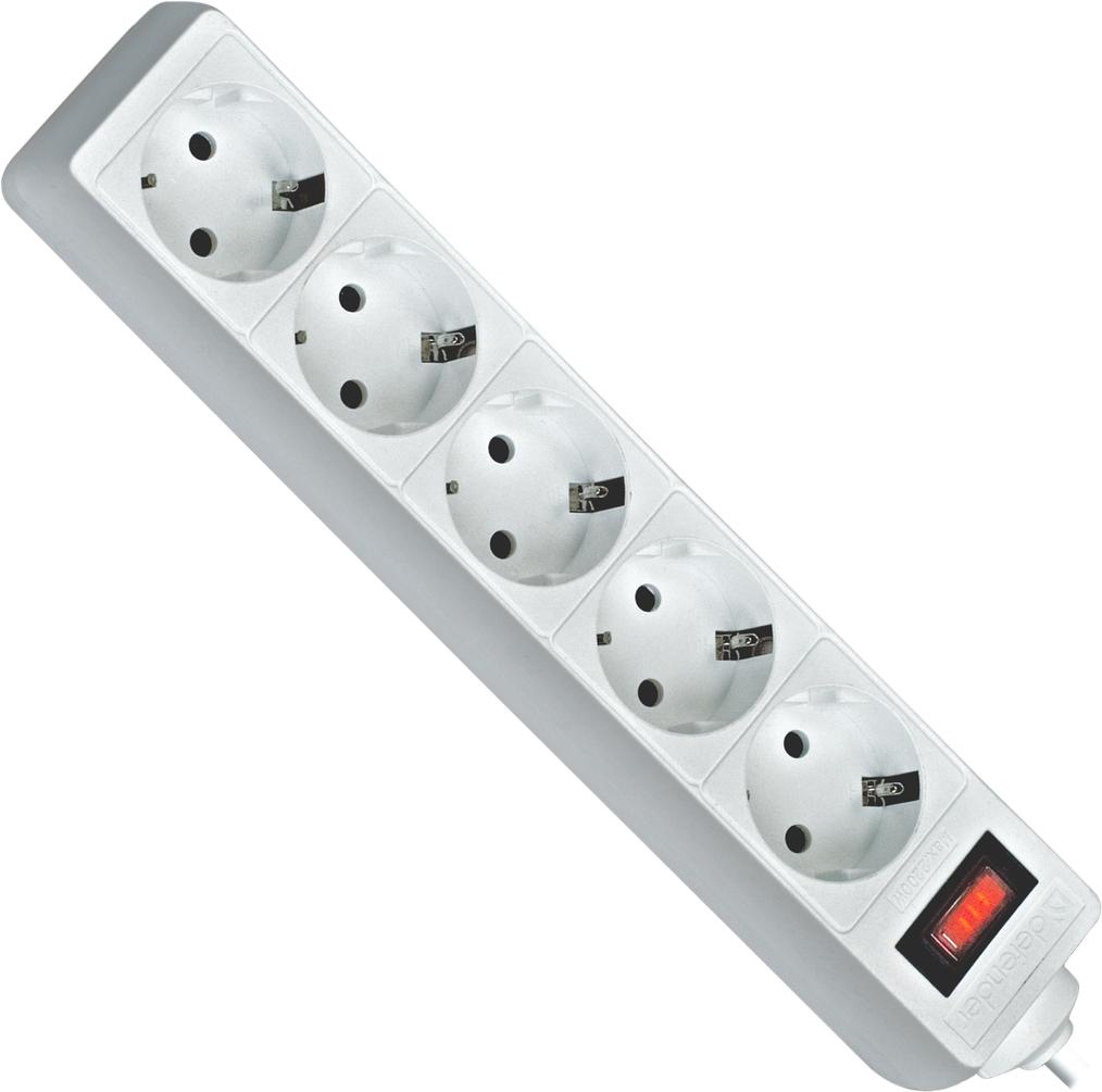 Сетевой фильтр Defender ES 1.8 м White