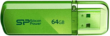 Флеш накопитель Silicon Power Helios 101 64Gb Green / SP064GBUF2101V1N