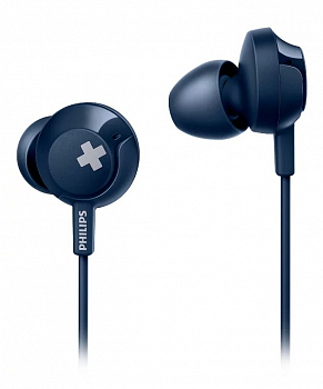 Наушники Philips BASS+ SHE4305 Blue